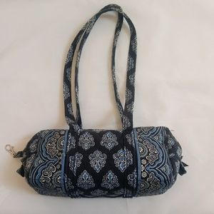 Navy blue bandana Vera Bradley duffle barrel bag